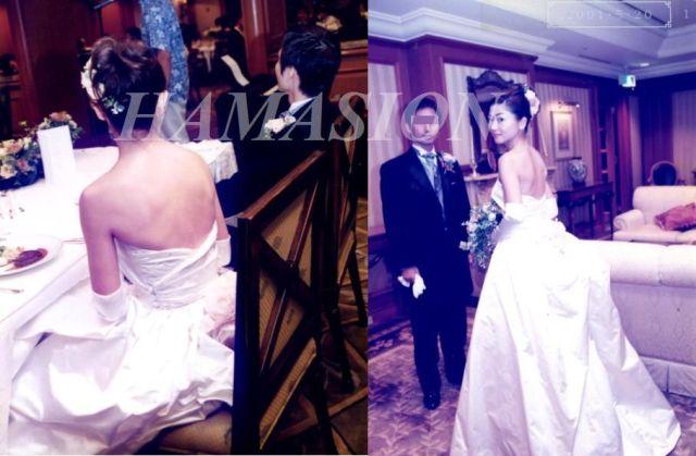 10数年前のサロンお客様写真;まだビスチェドレスは少なかった時代ですよ